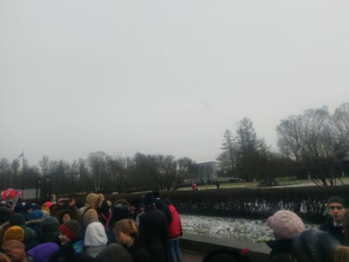 8 «Б» класс принял участие в районной акции памяти на Серафимовском кладбище
